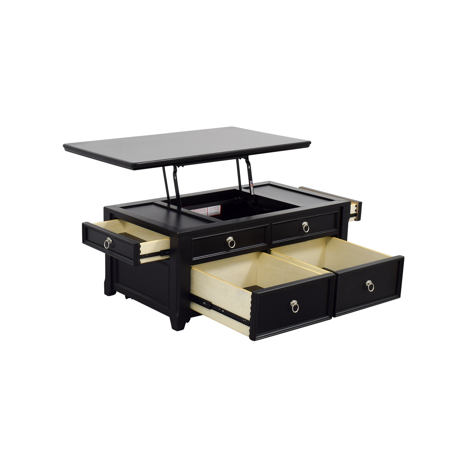 61 off ashley furniture ashley furniture black lift top coffee table tables Lifting top coffee table