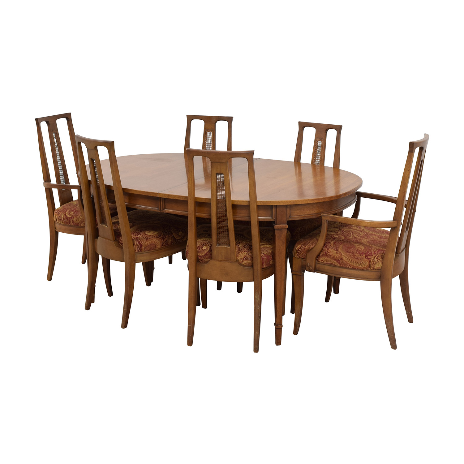 90 Off Mid Century Oval Dining Set Tables