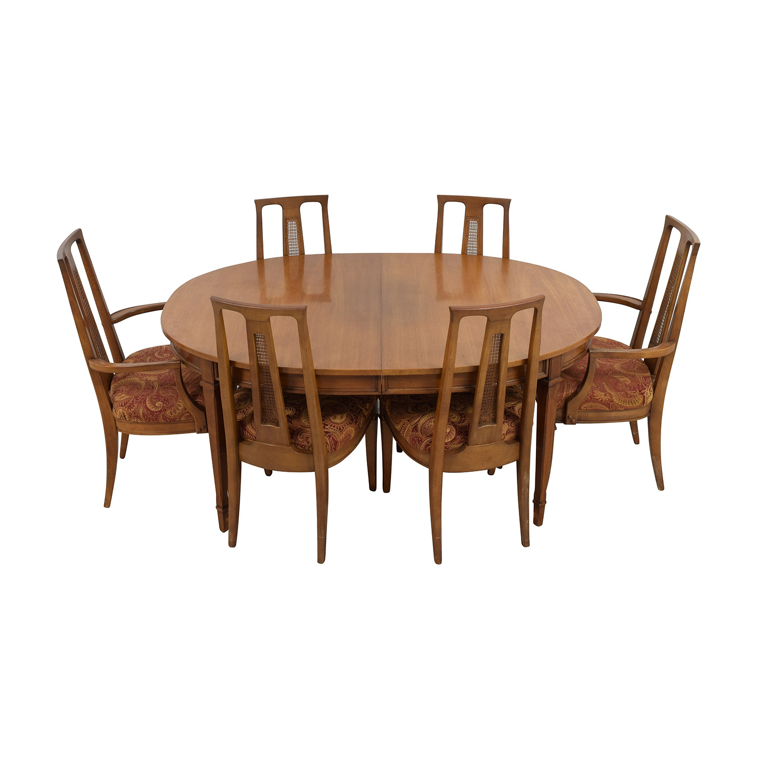 Mid Century Oval Dining Set On Sale