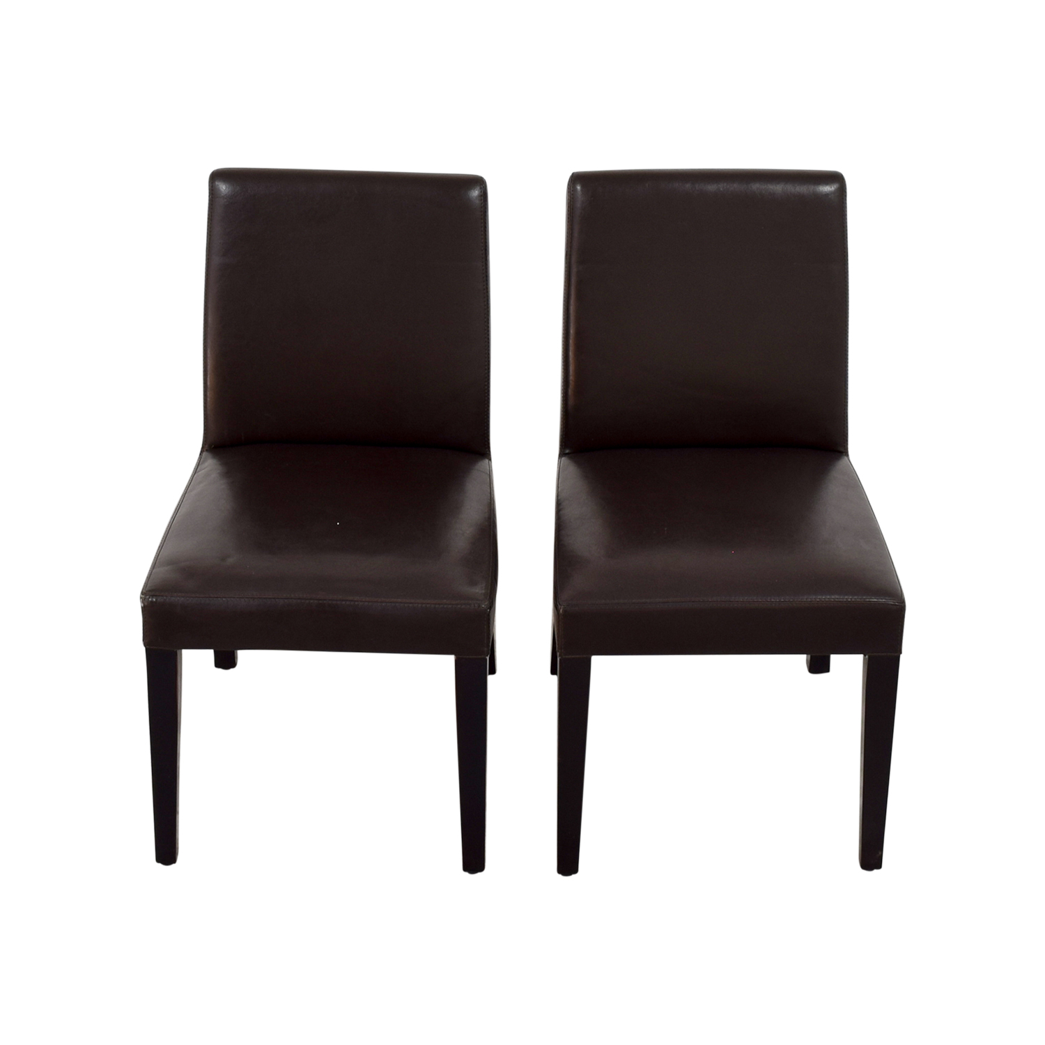 Crate And Barrel Dining Chairs: Crate And Barrel Crate & Barrel Brown Leather