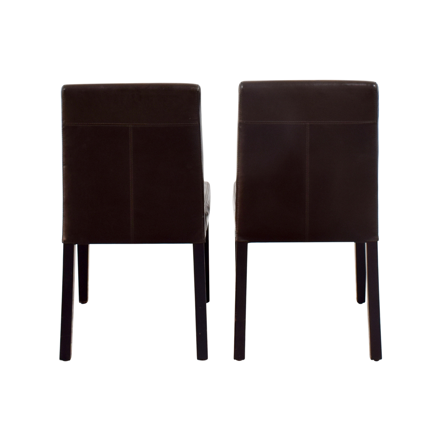 OFF IKEA IKEA White Dining Chairs Chairs - Crate and barrel leather dining chair