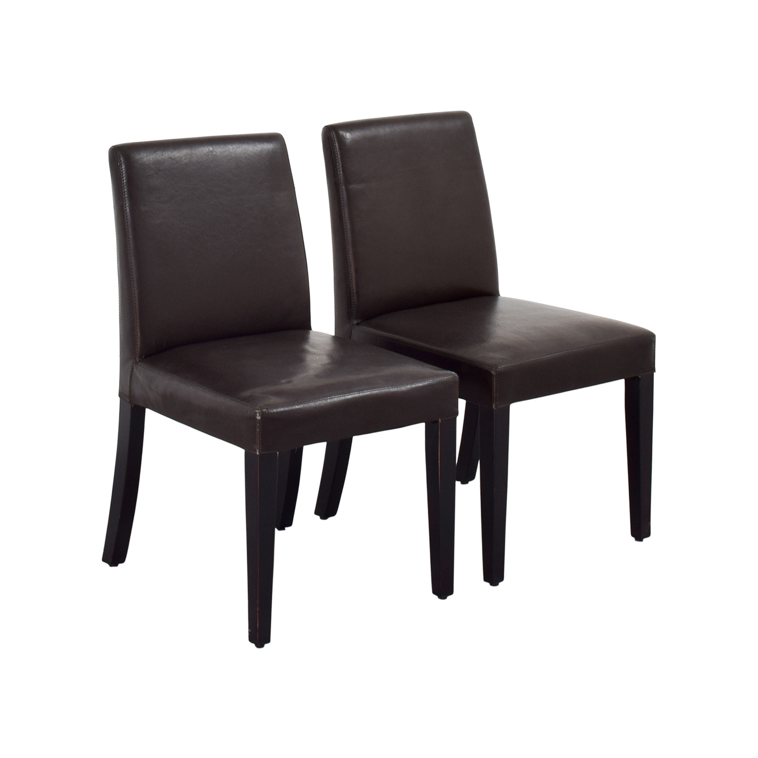Crate And Barrel Dining Room Chairs: Crate And Barrel Crate & Barrel Brown Leather