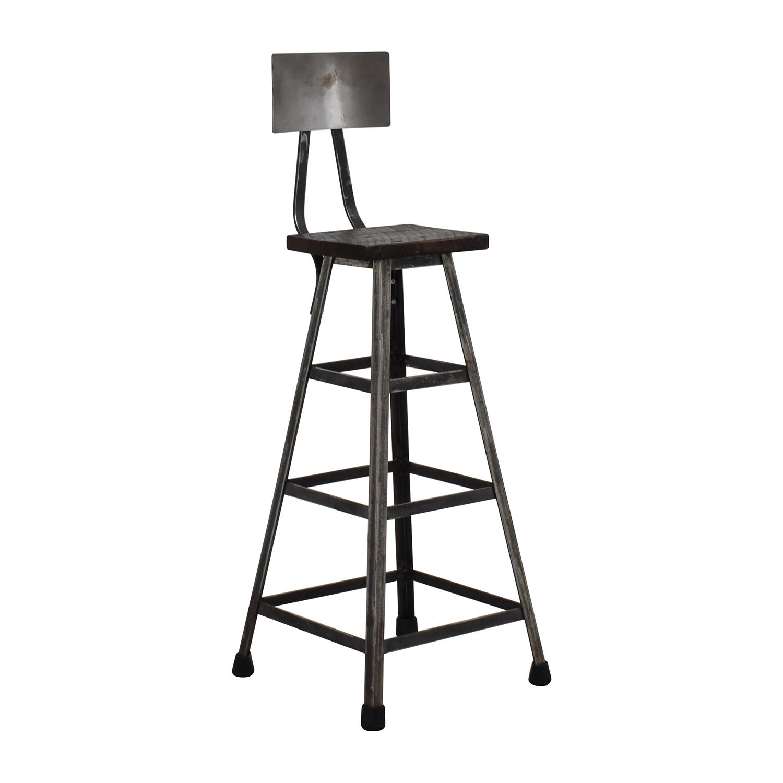 Chairs For Bar: Custom Metal High Bar Stool / Chairs