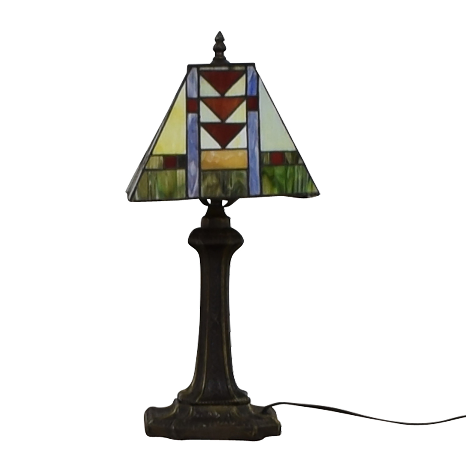 Tiffany Style Stained Glass Table Lamp for sale