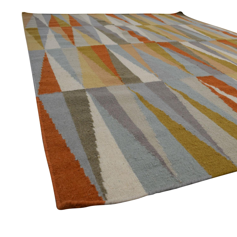 Hand-Woven Poitiers Flatweave Wool Rug / Decor