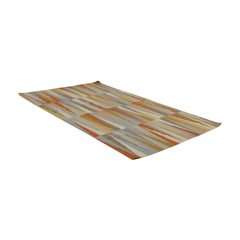 Hand-Woven Poitiers Flatweave Wool Rug Decor
