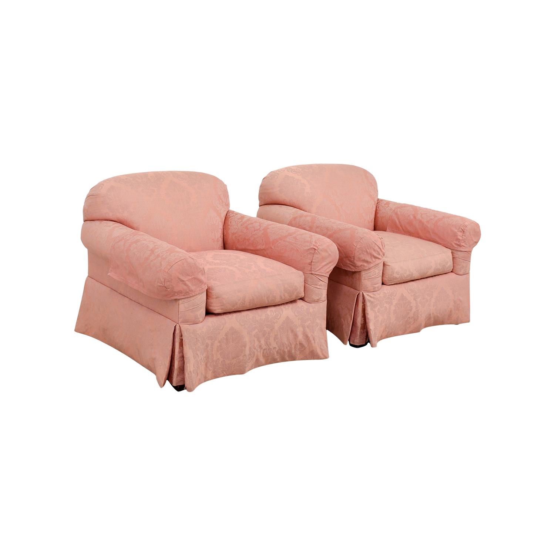 custom club chairs. Custom Damask Pink Club Chairs For Sale