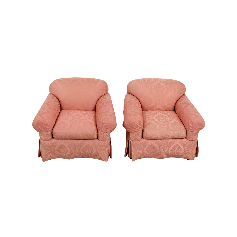 Custom Damask Pink Club Chairs price