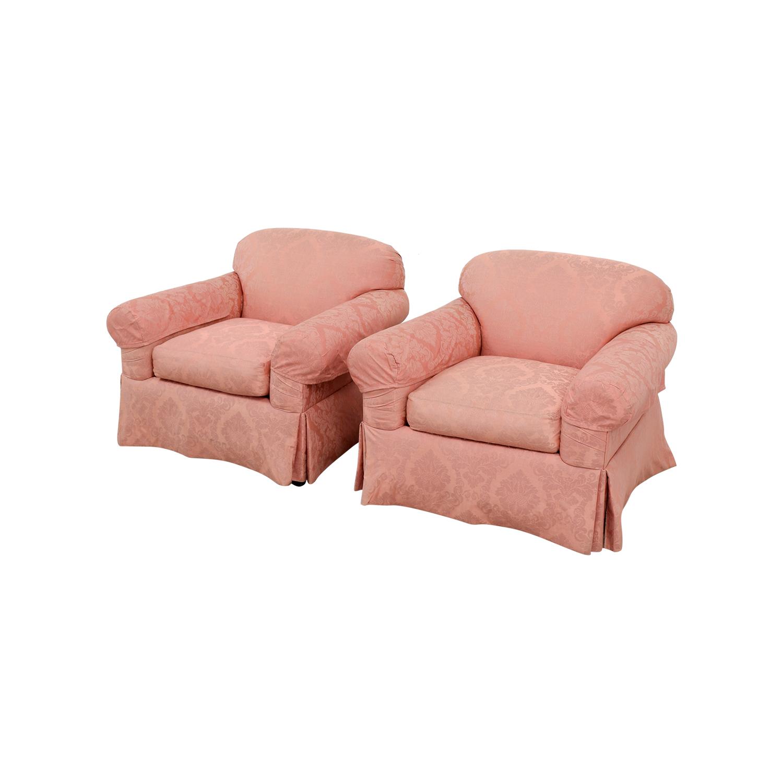 custom club chairs. Custom Damask Pink Club Chairs / Accent 1