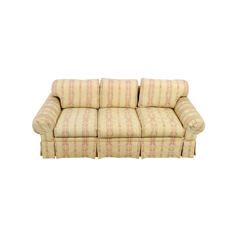 MH Stark Cromwell Collection Custom Damask Three-Cushion Sofa sale