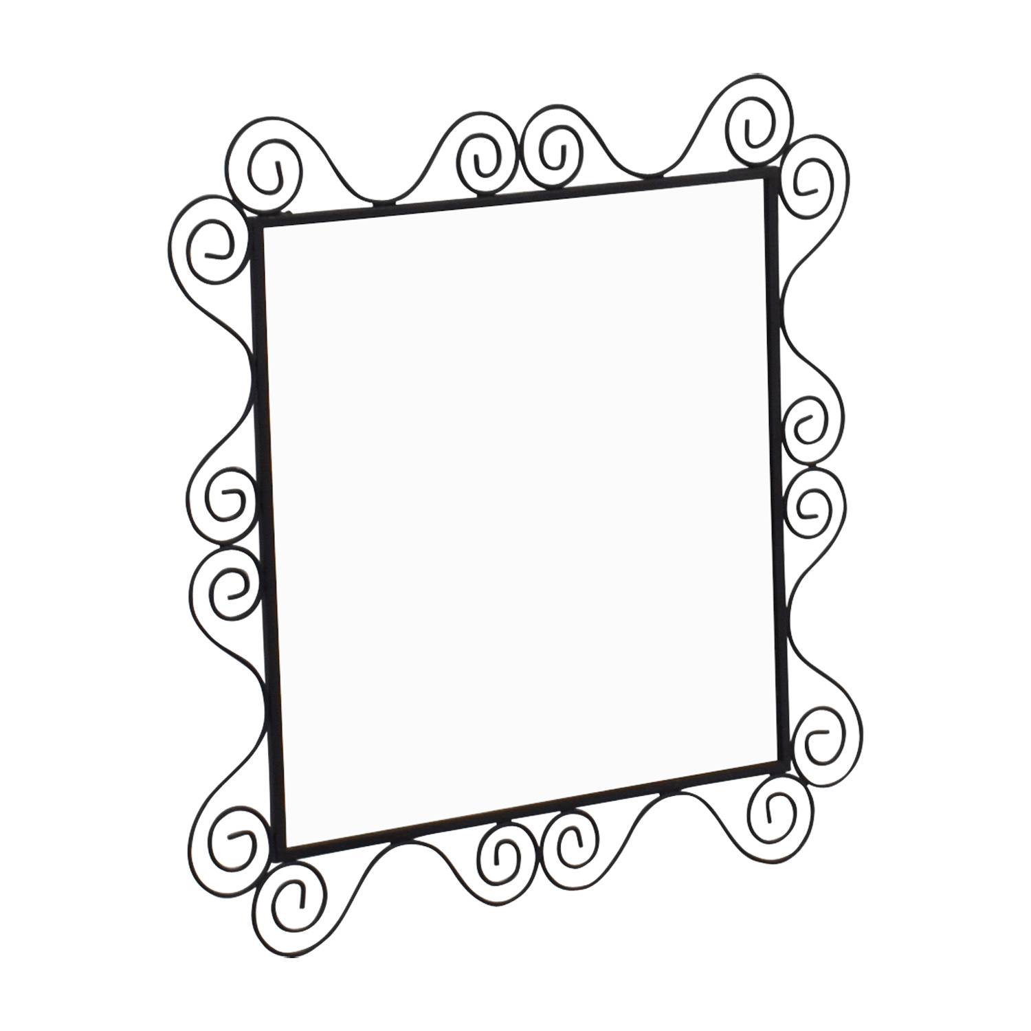 Swirl Square Mirror / Decor