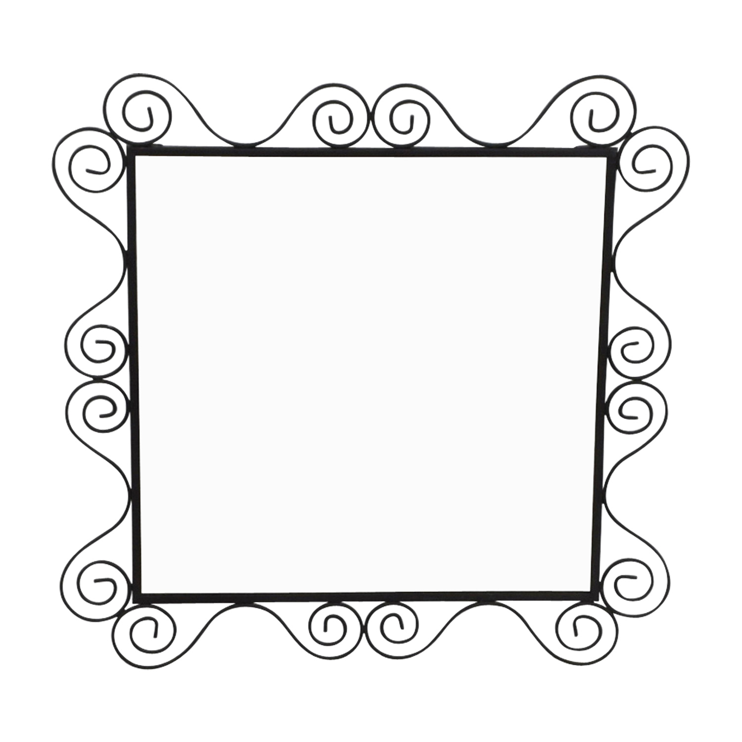 Swirl Square Mirror for sale