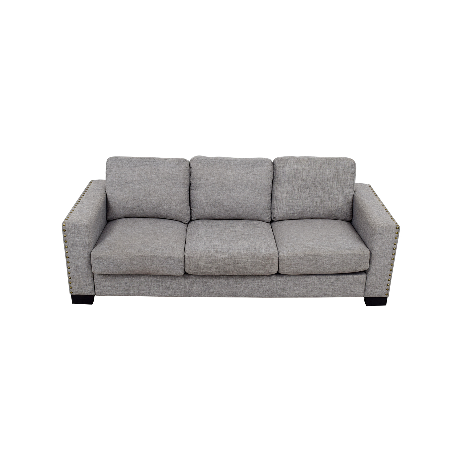 buy INSPIRE Q Grey Linen Nailhead Track Arm Sofa INSPIRE Q