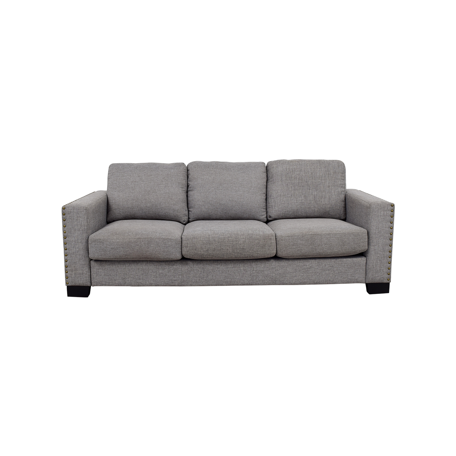 INSPIRE Q INSPIRE Q Grey Linen Nailhead Track Arm Sofa for sale ...
