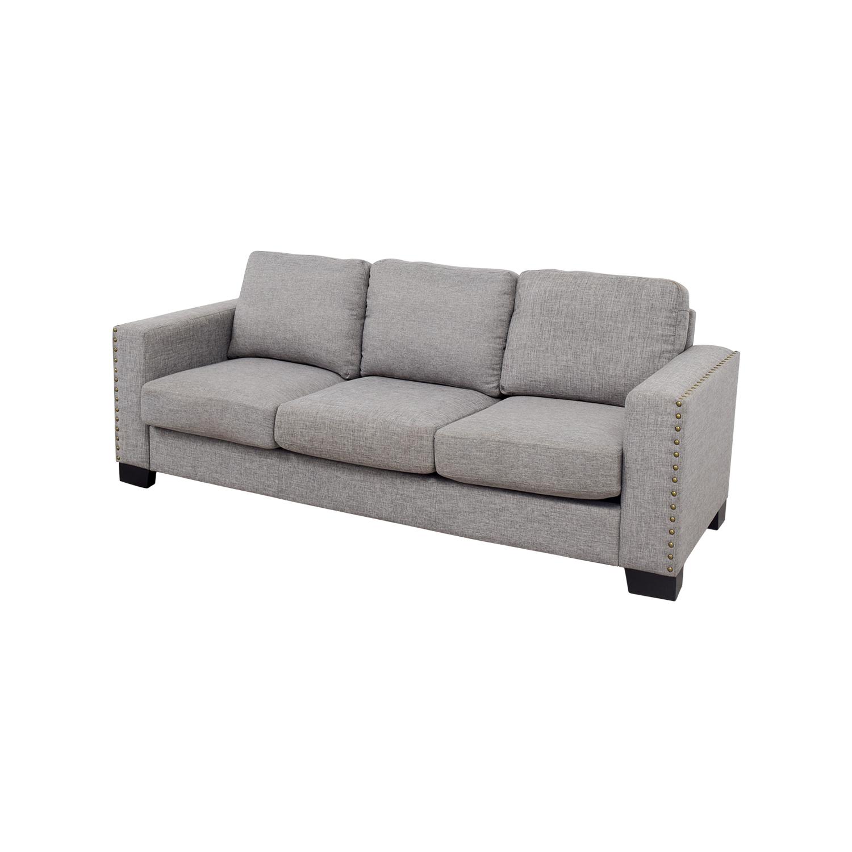 ... INSPIRE Q INSPIRE Q Grey Linen Nailhead Track Arm Sofa coupon ...
