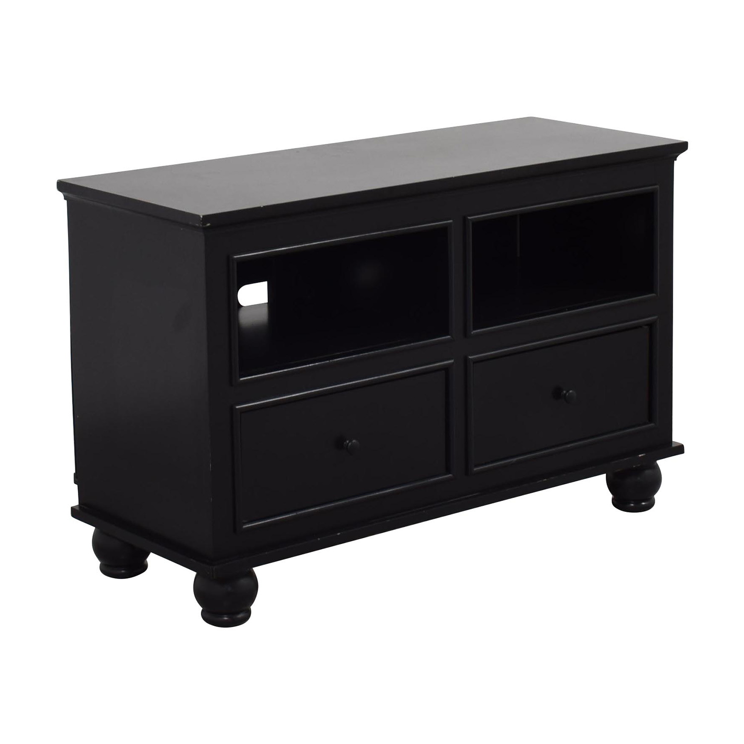 90 Off Macy S Macy S Dark Wood Two Drawer Tv Stand