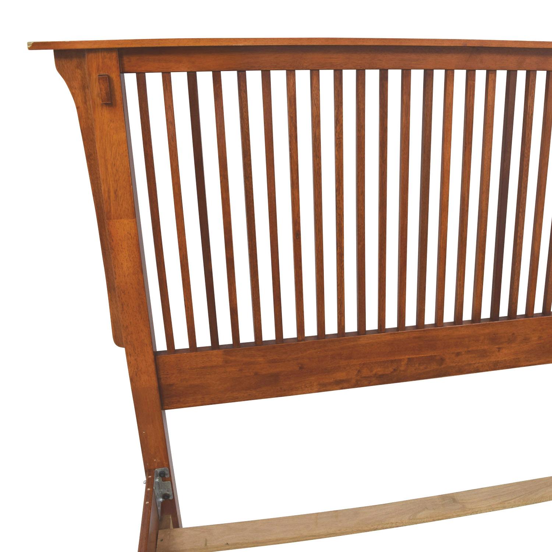 90 Off Wood Queen Bed Frame Beds
