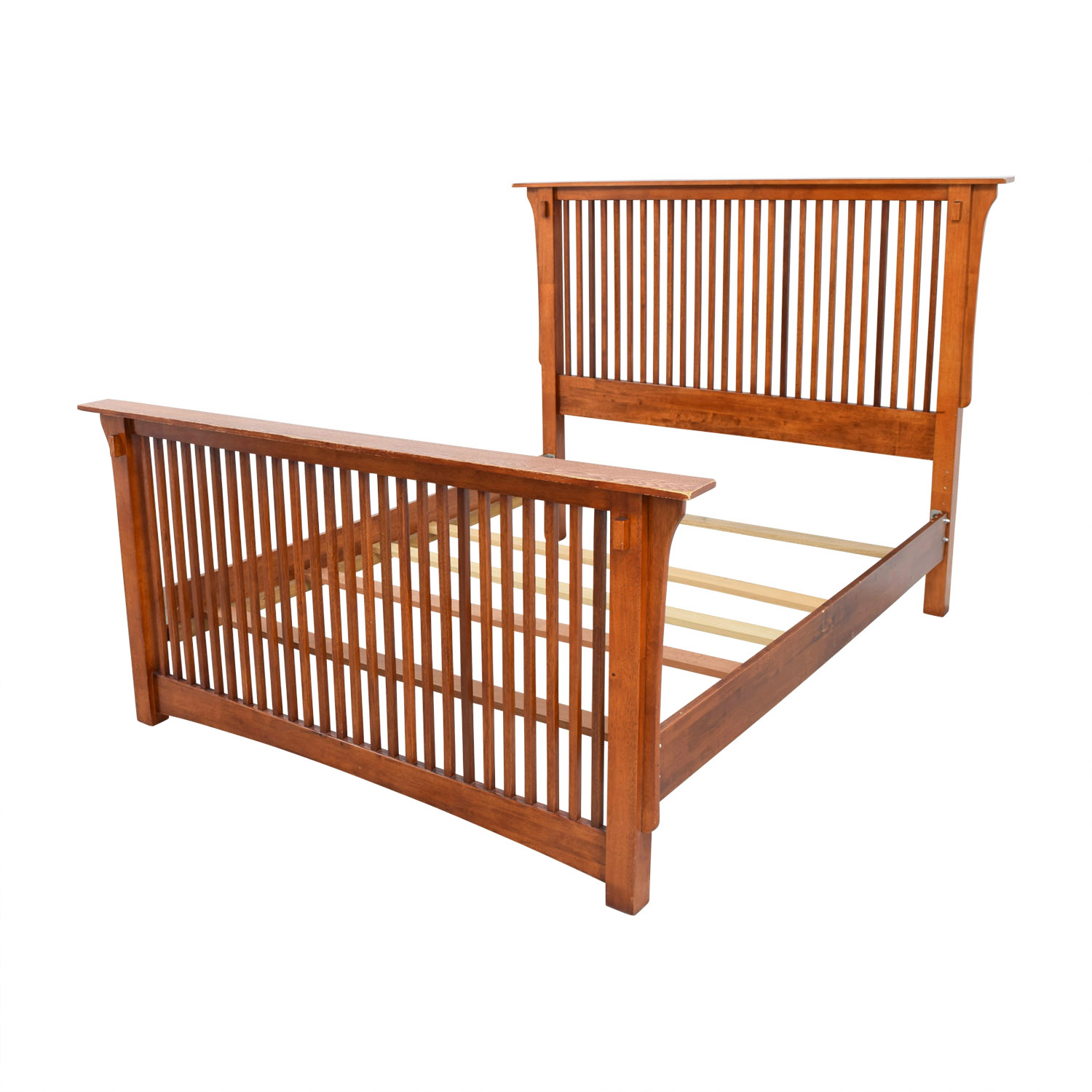 90 Off Wood Queen Bed Frame Beds