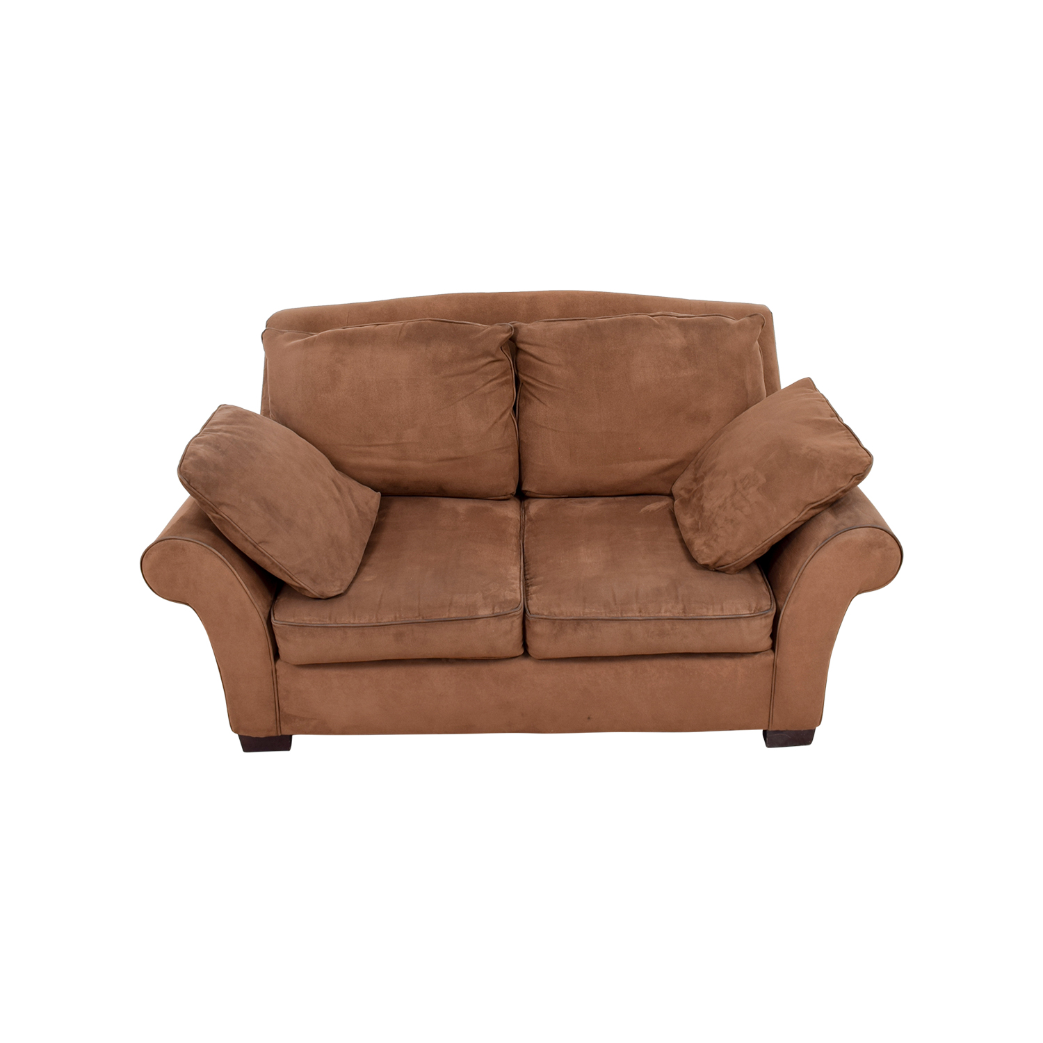 Brown Curved Arm Loveseat second hand
