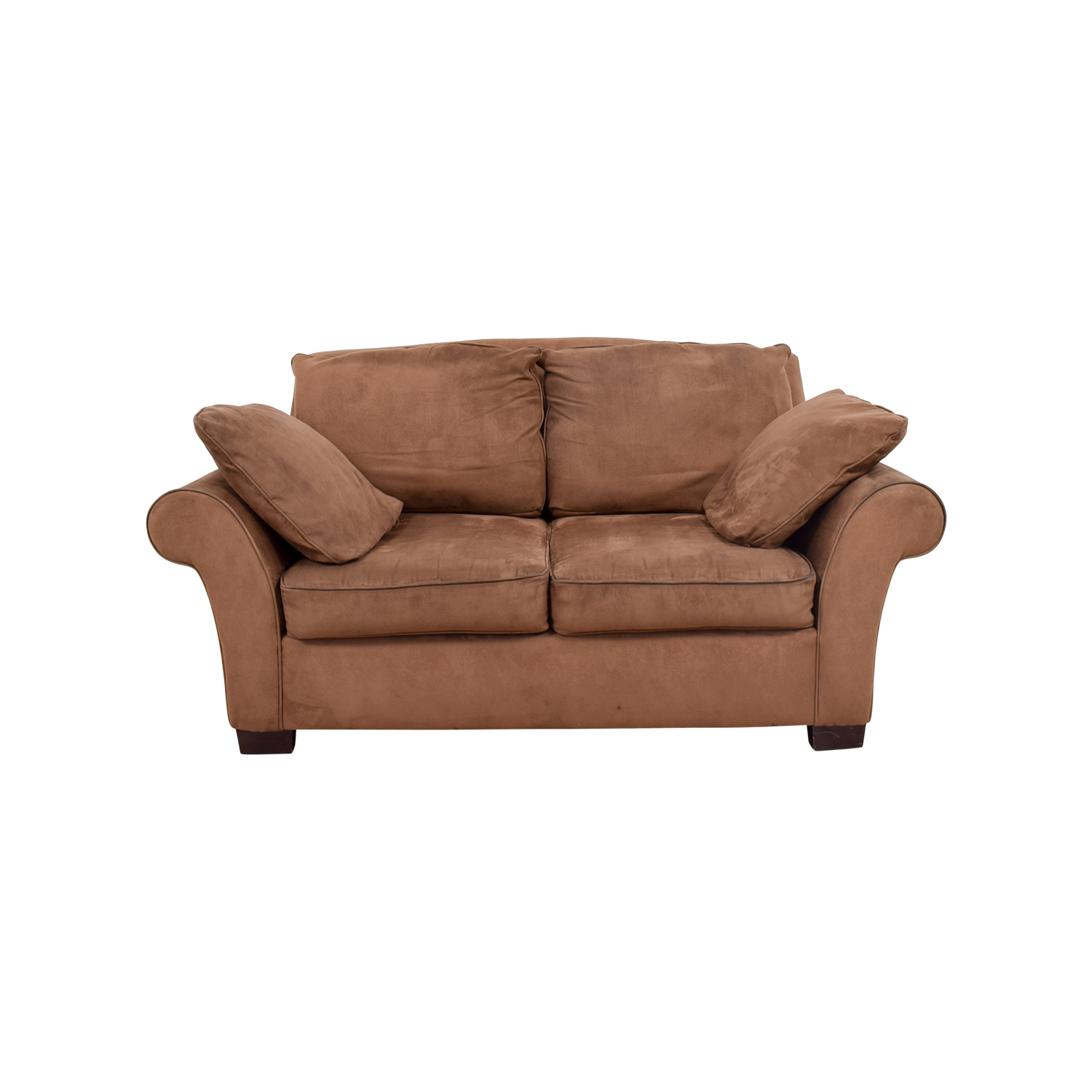 Brown Curved Arm Loveseat / Loveseats