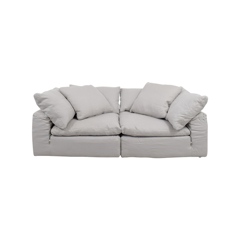Restoration Hardware Restoration Hardware The Cloud White Sofa nj