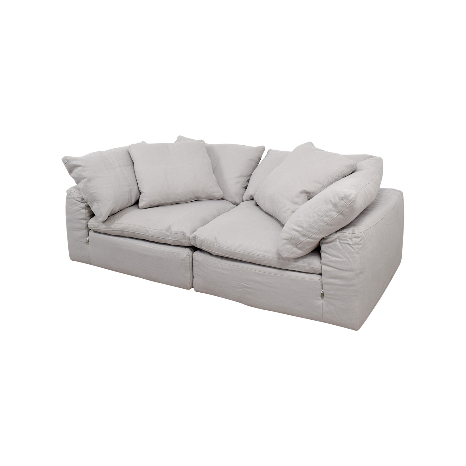 Restoration Hardware The Cloud White Sofa For