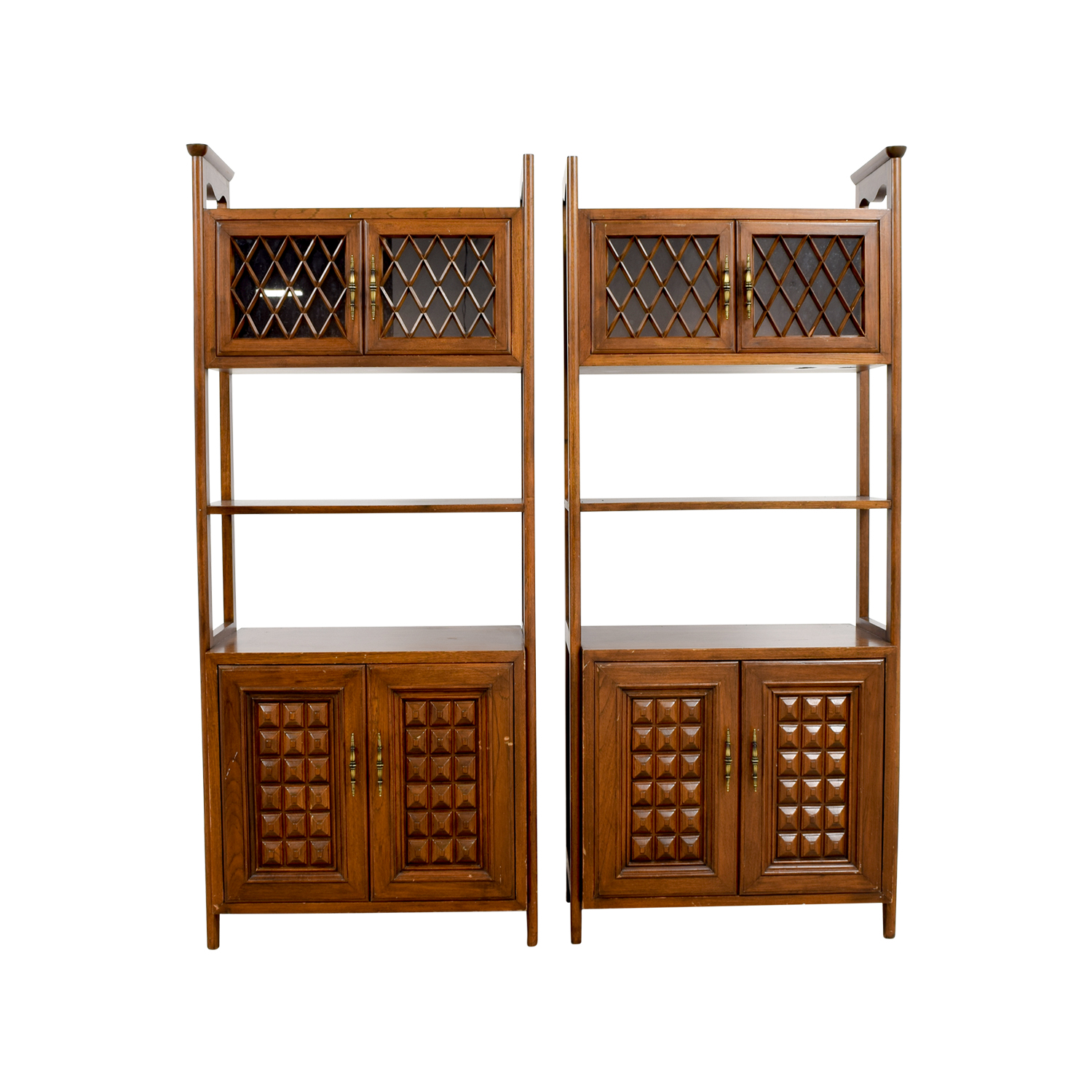 Mid-Century Wood Storage Cabinets for sale