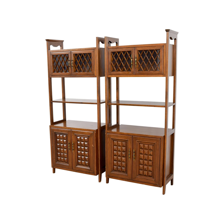 Mid-Century Wood Storage Cabinets