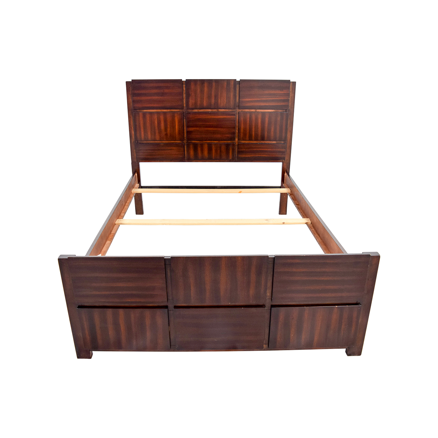 Brown Wooden Full Bed Frame