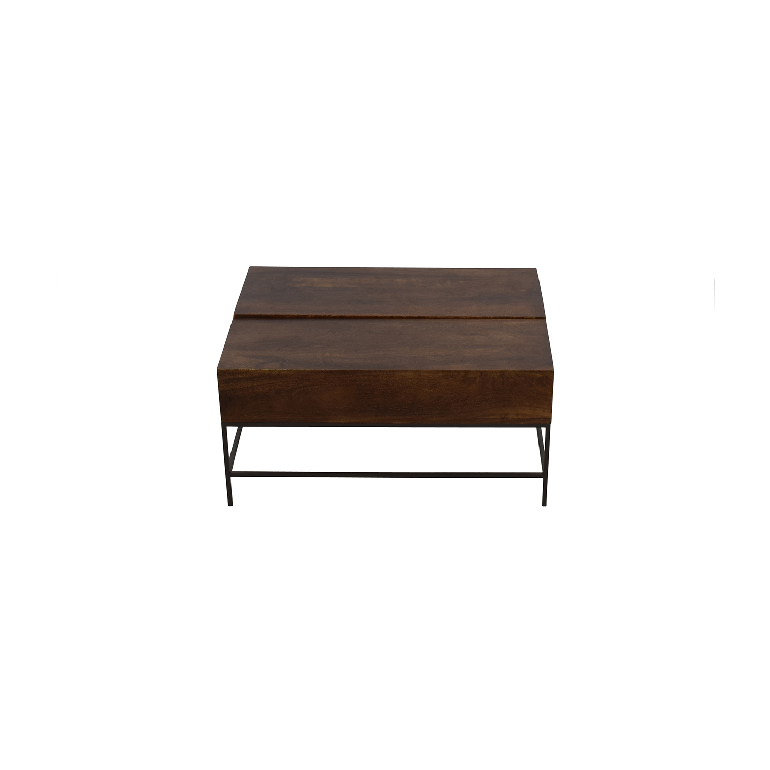shop West Elm Industrial Storage Coffee Table West Elm
