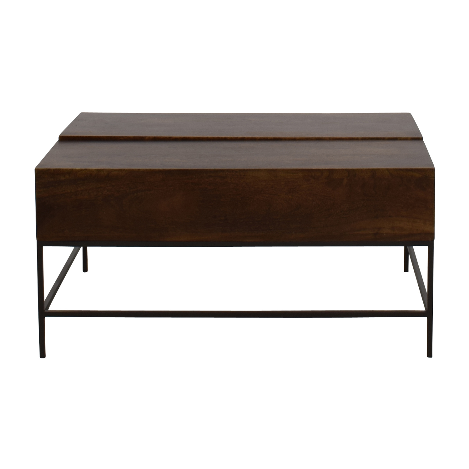 46% OFF Glass Top with Wood Base Coffee Table Tables