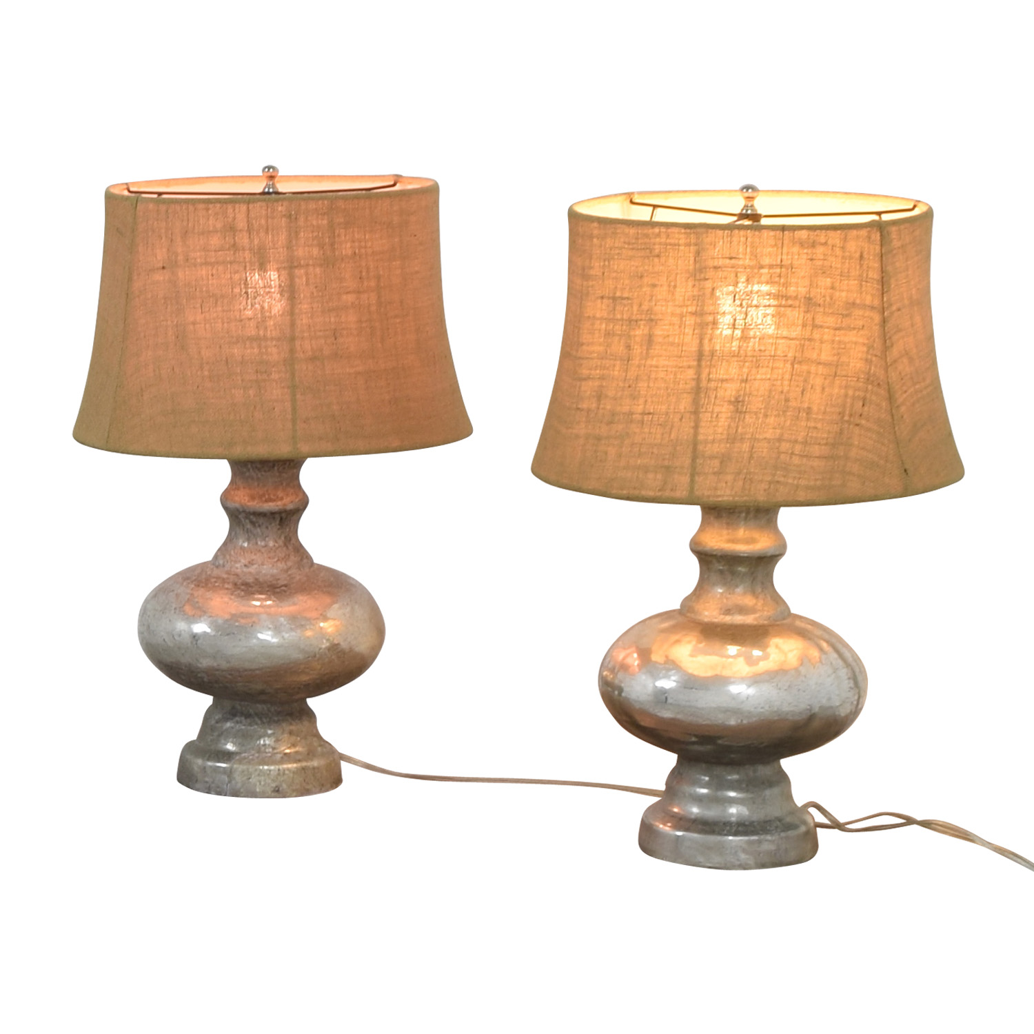Pottery Barn Pottery Barn Antique Mercury Glass Table Lamps coupon