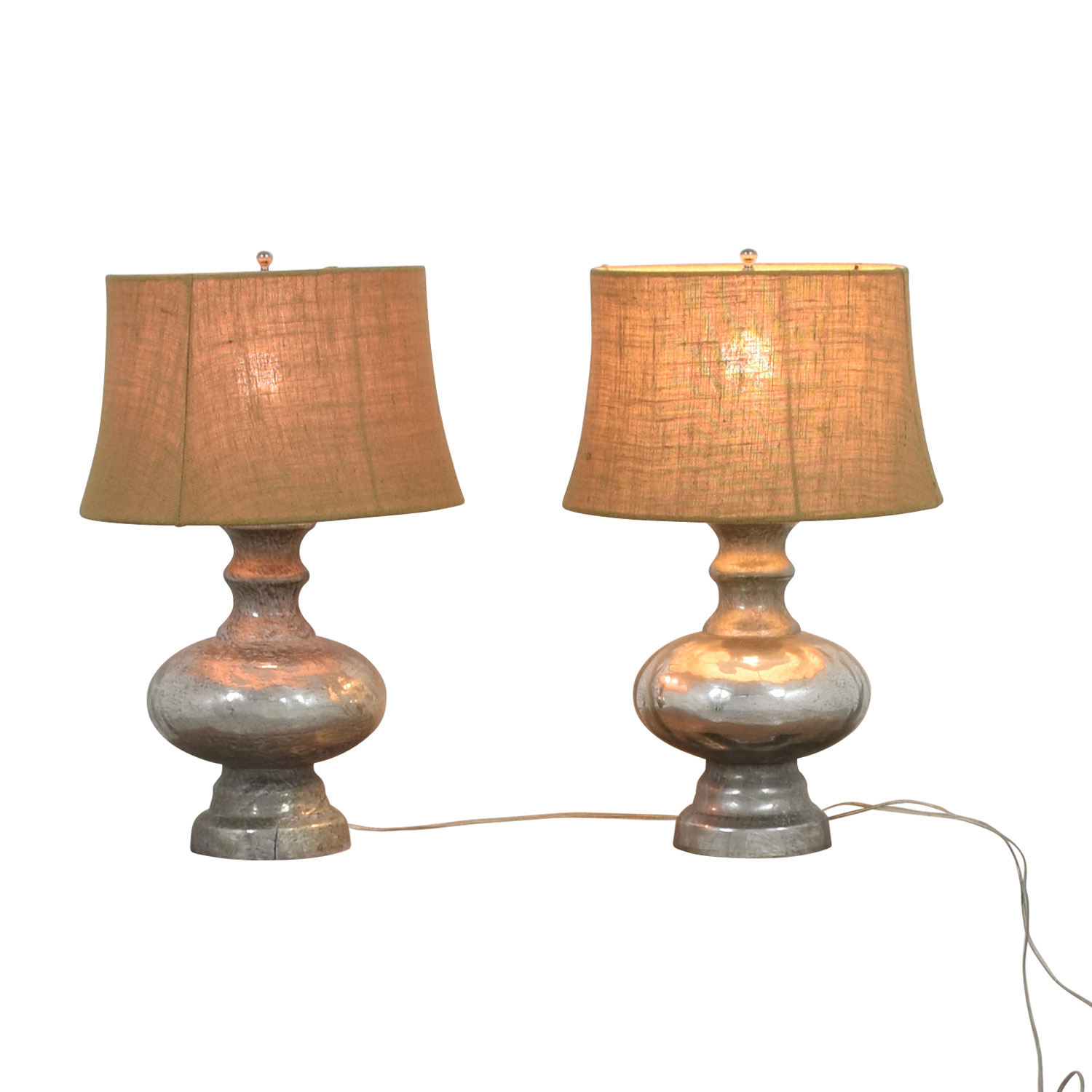 Pottery Barn Pottery Barn Antique Mercury Glass Table Lamps Lamps