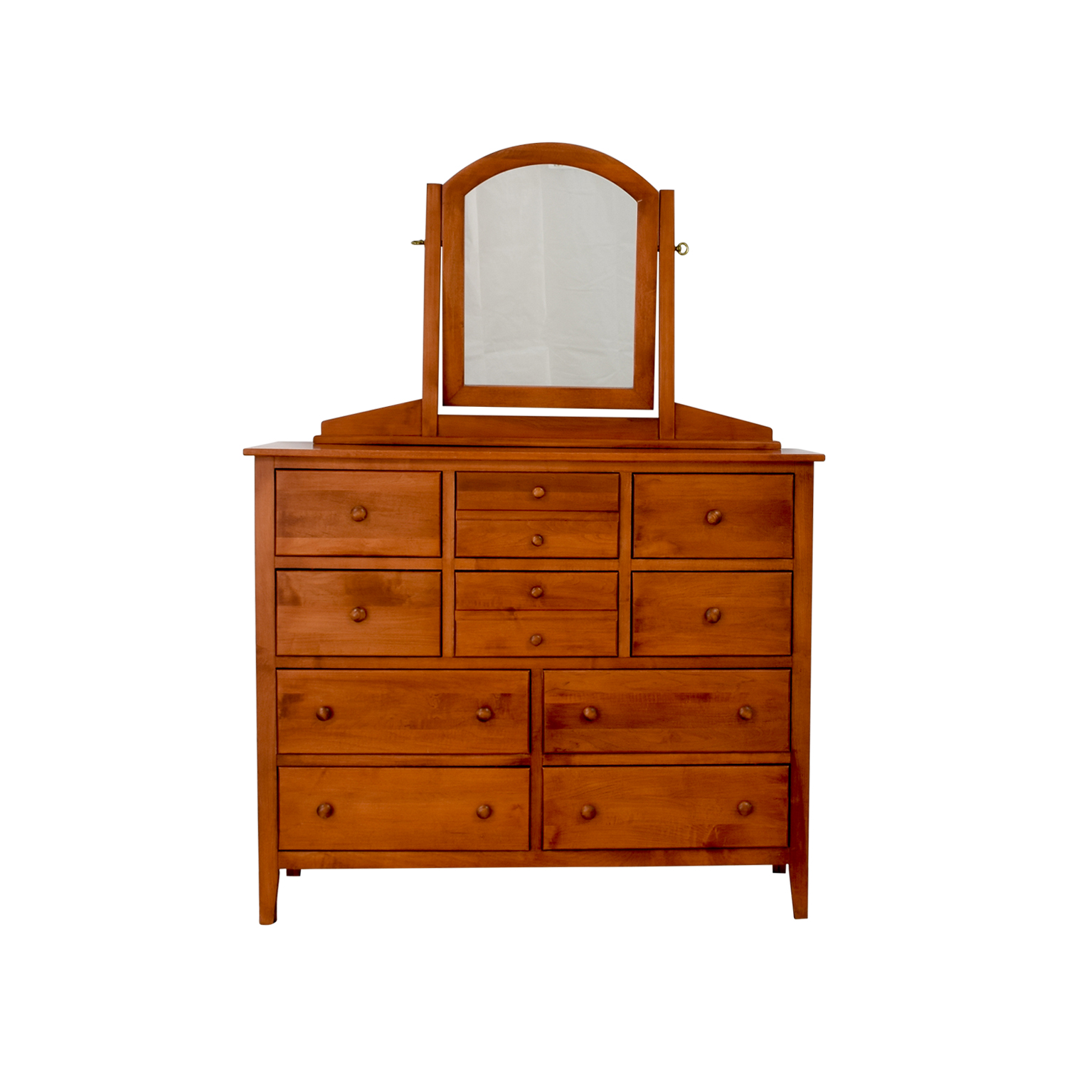 Solid Cherry Shaker Ten-Drawer Dresser discount