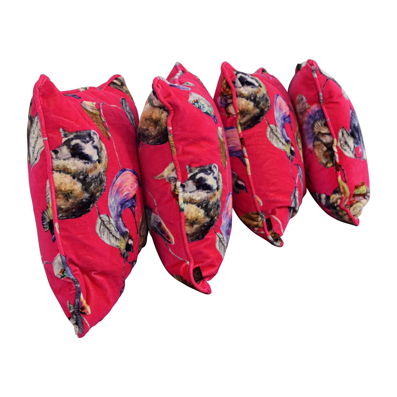 Hot Pink Animal Pillows nyc