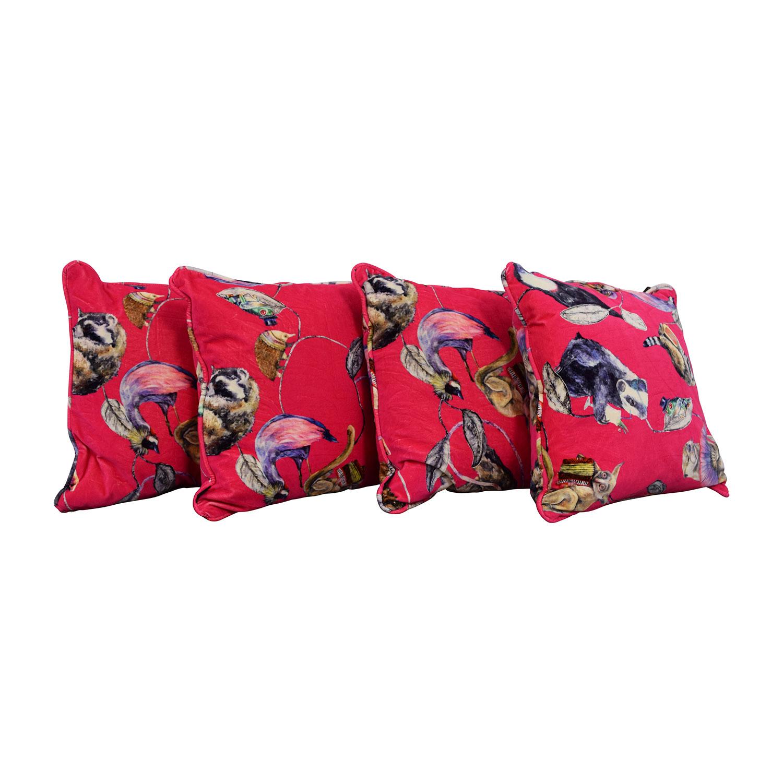shop Hot Pink Animal Pillows  Decorative Accents
