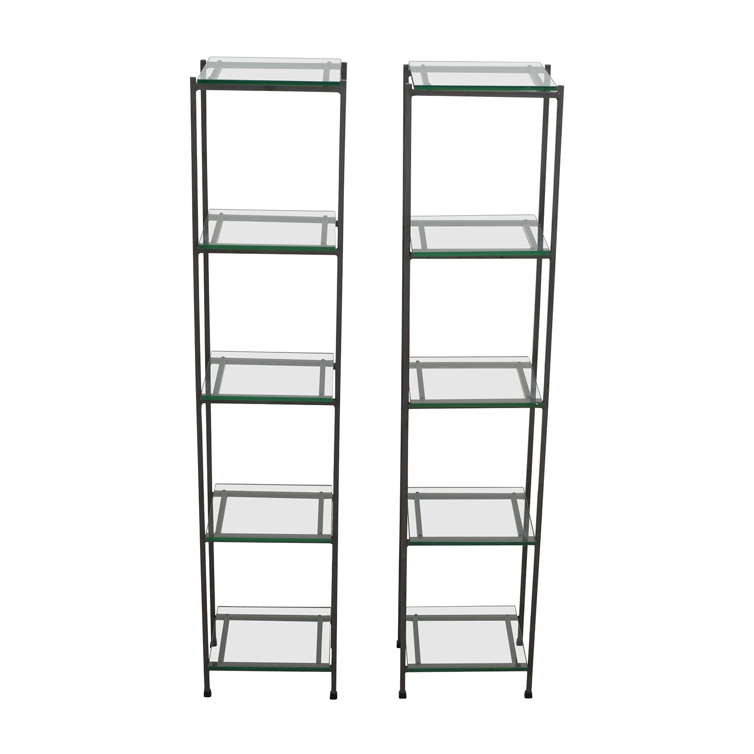 Crate & Barrel Crate & Barrel Glass Bookcases used