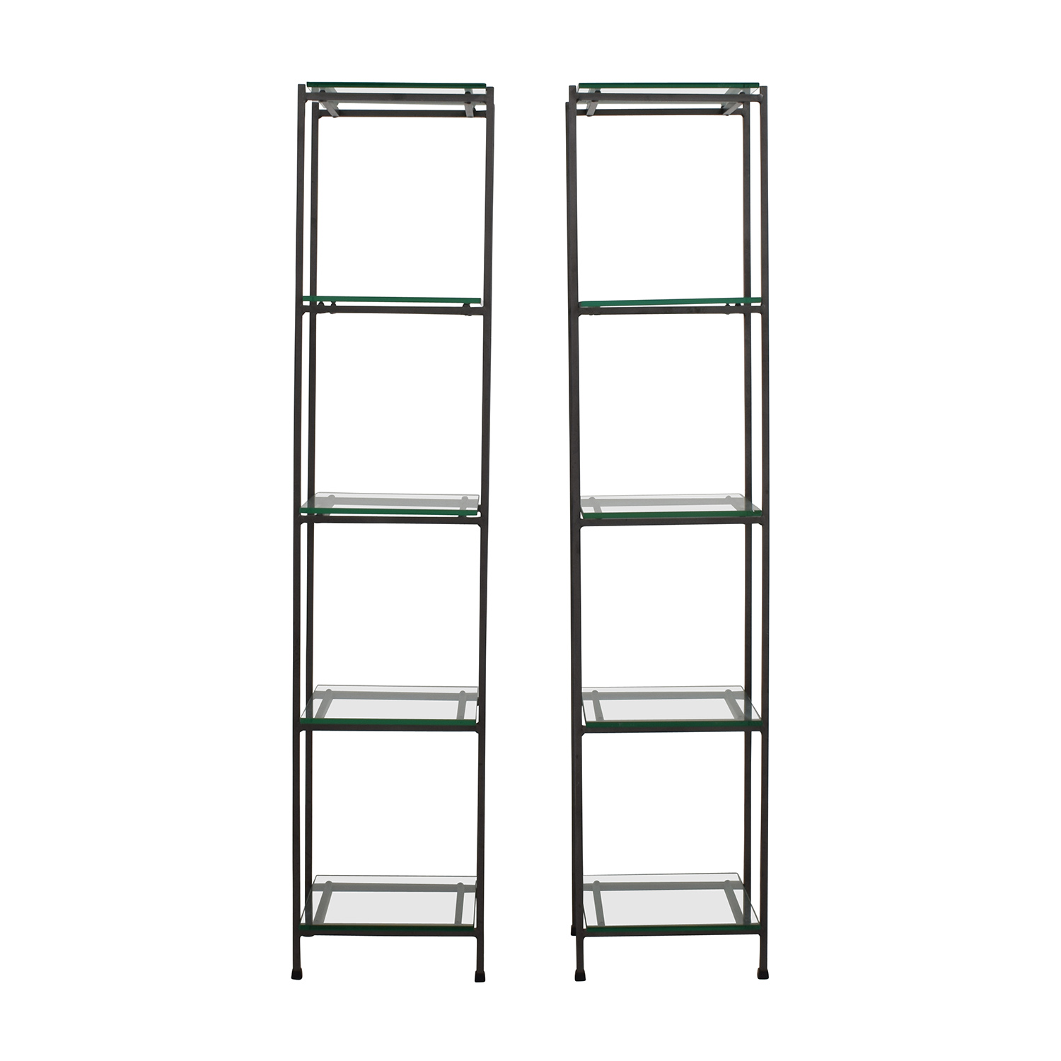 Crate & Barrel Crate & Barrel Glass Bookcases