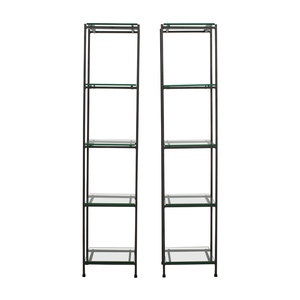 Crate & Barrel Crate & Barrel Glass Bookcases nj