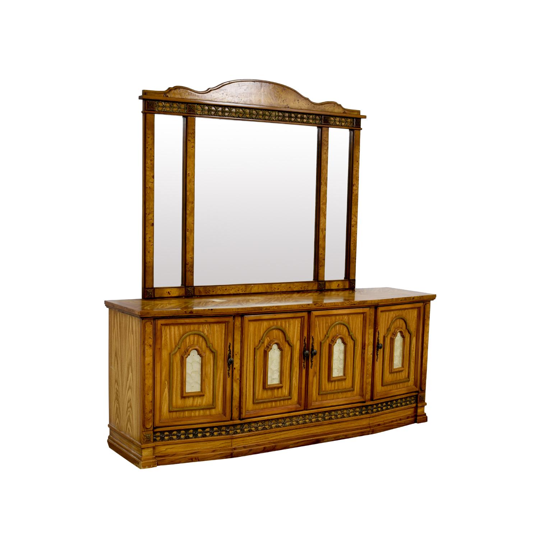 87 Off Antique Italian Nine Drawer Dresser With Mirror
