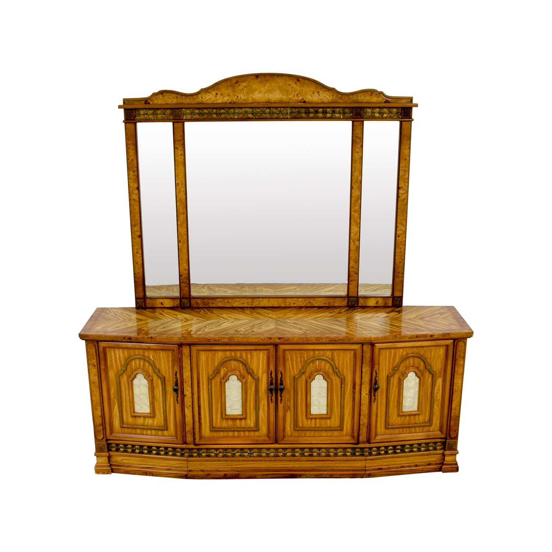 Antique Italian Nine-Drawer Dresser with Mirror price