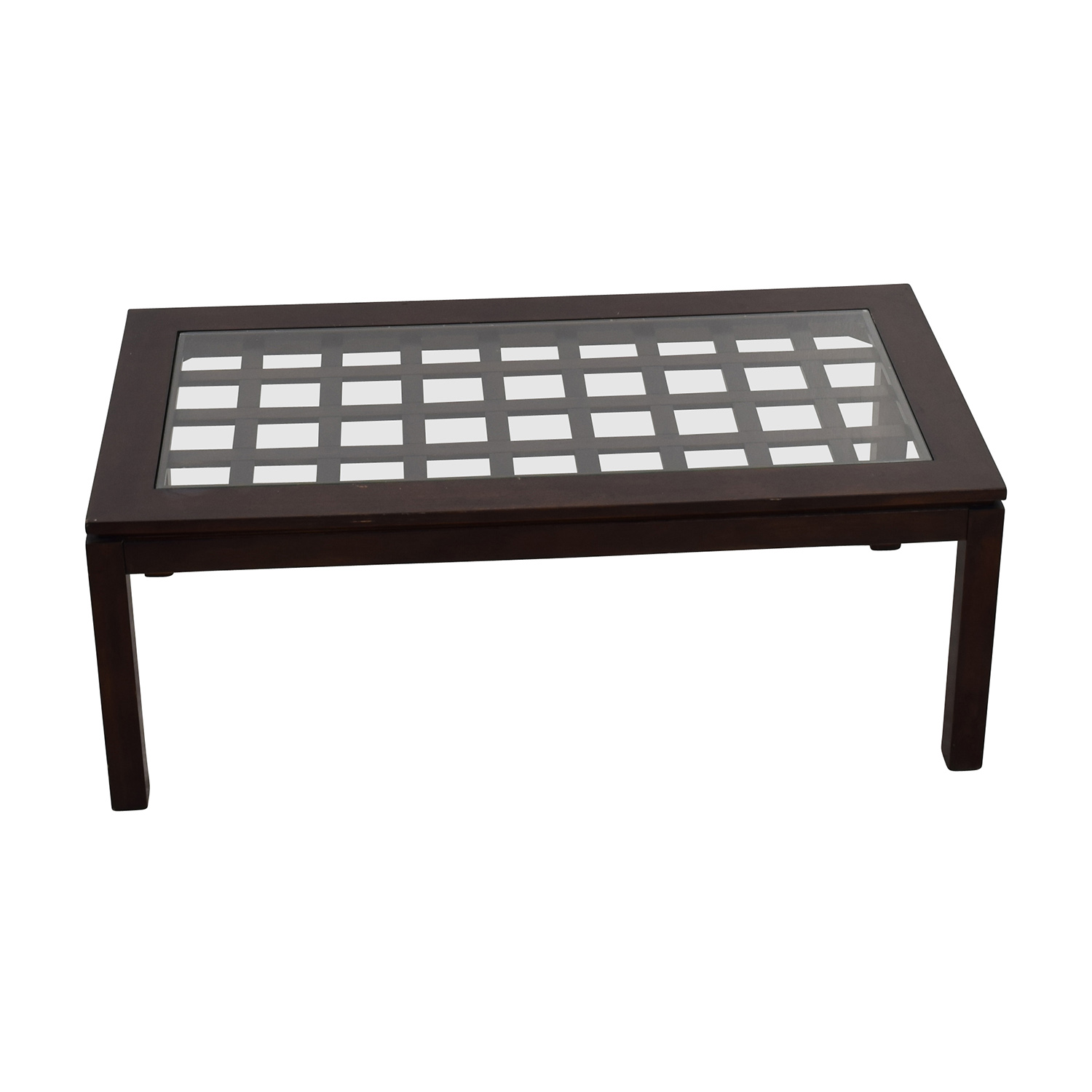 70% OFF Glass and Wood Coffee Table Tables