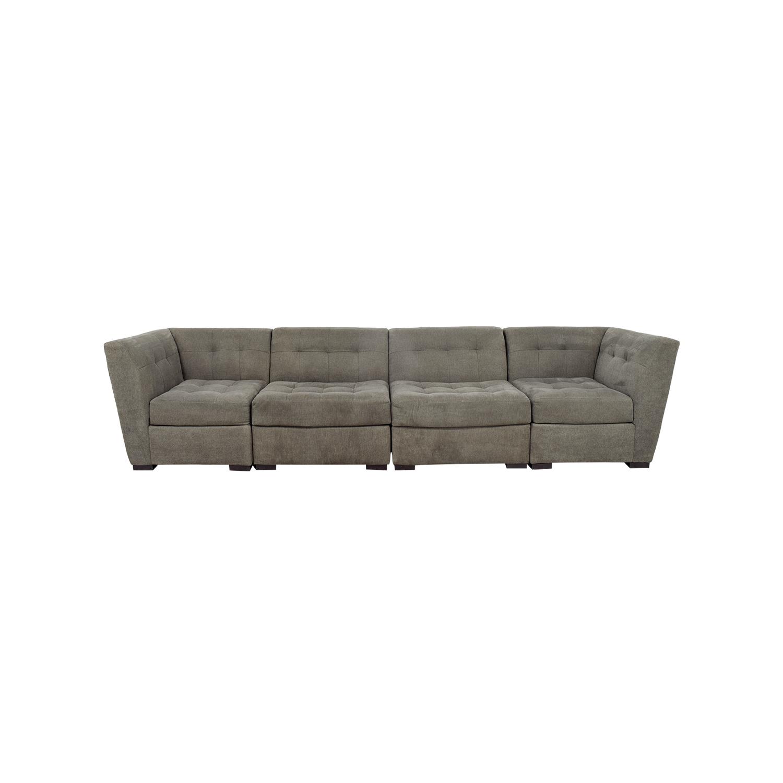 63% OFF   Macyu0027s Macyu0027s Roxanne Modular Sectional Sofa / Sofas
