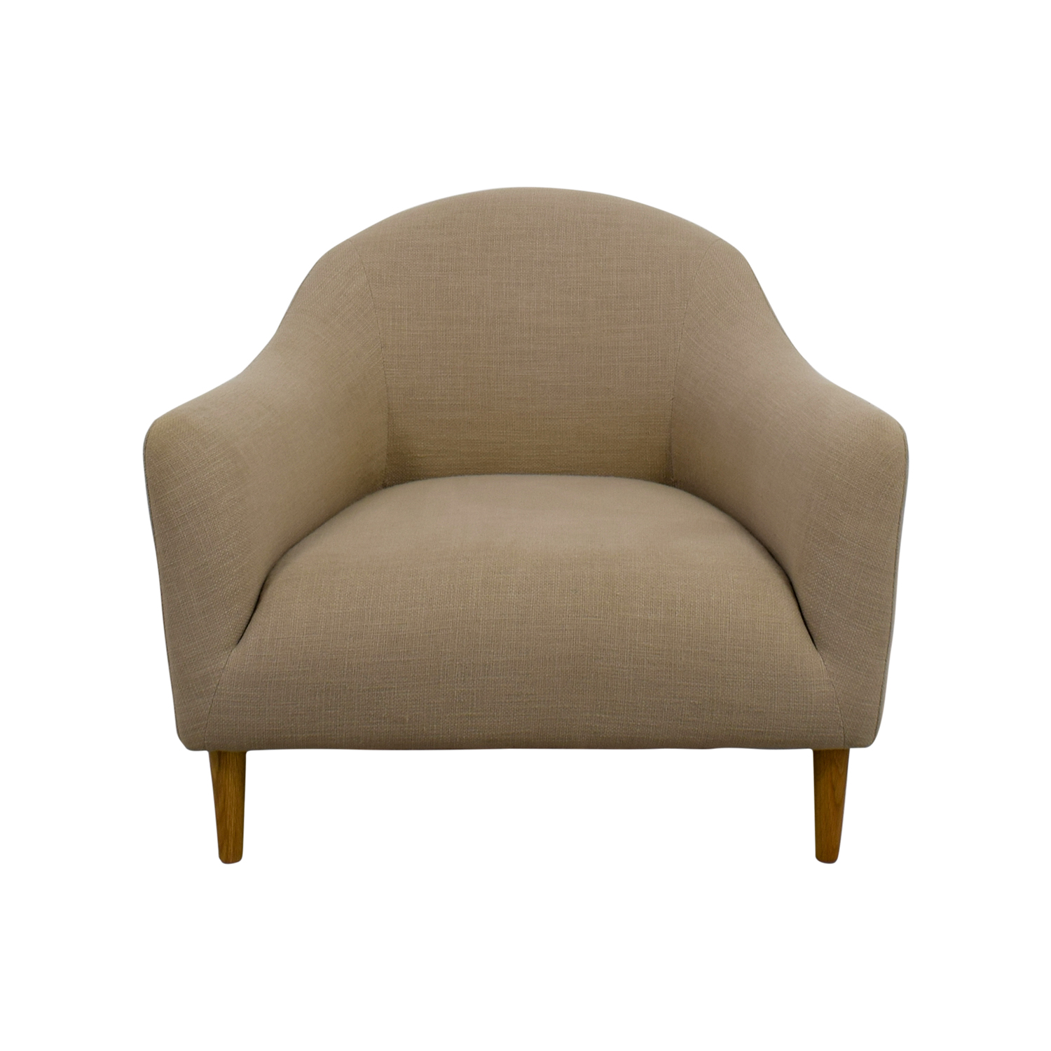Crate And Barrel Crate And Barrel Pennie Beige Accent Chair Coupon ...