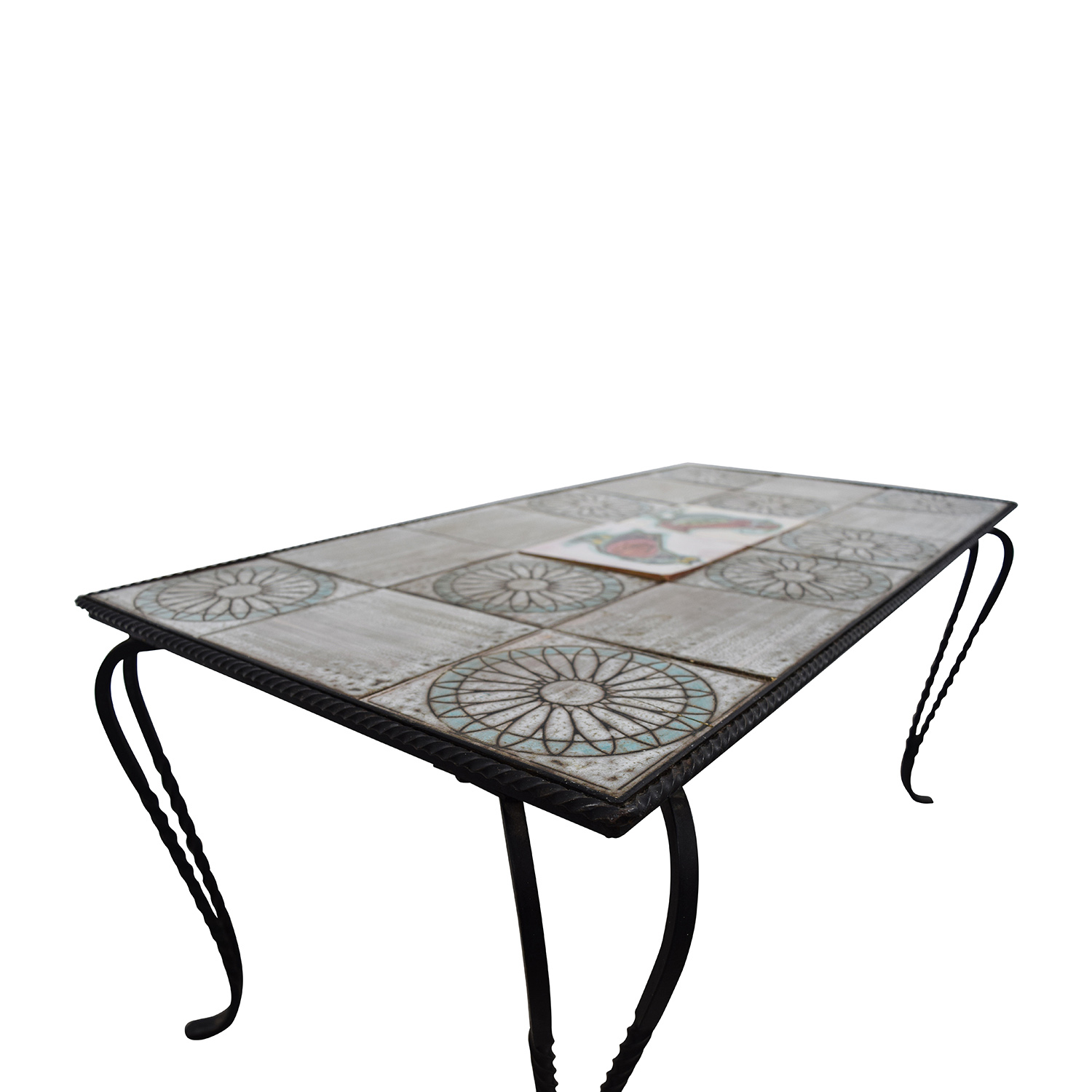 79 off wrought iron tile table tables