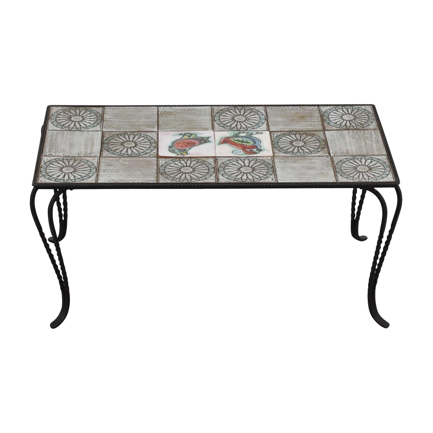 Wrought Iron Tile Table / Coffee Tables