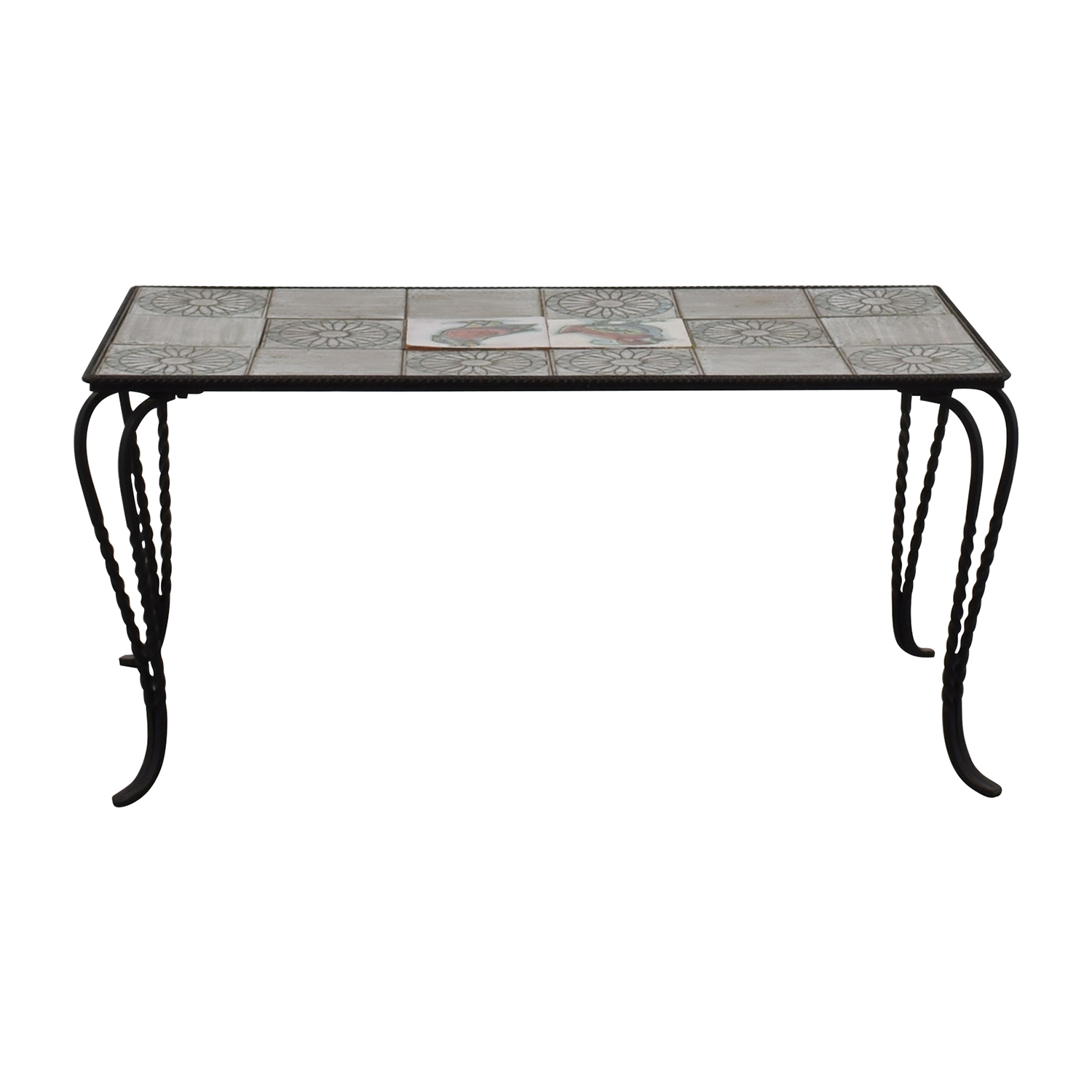 Wrought Iron Tile Table