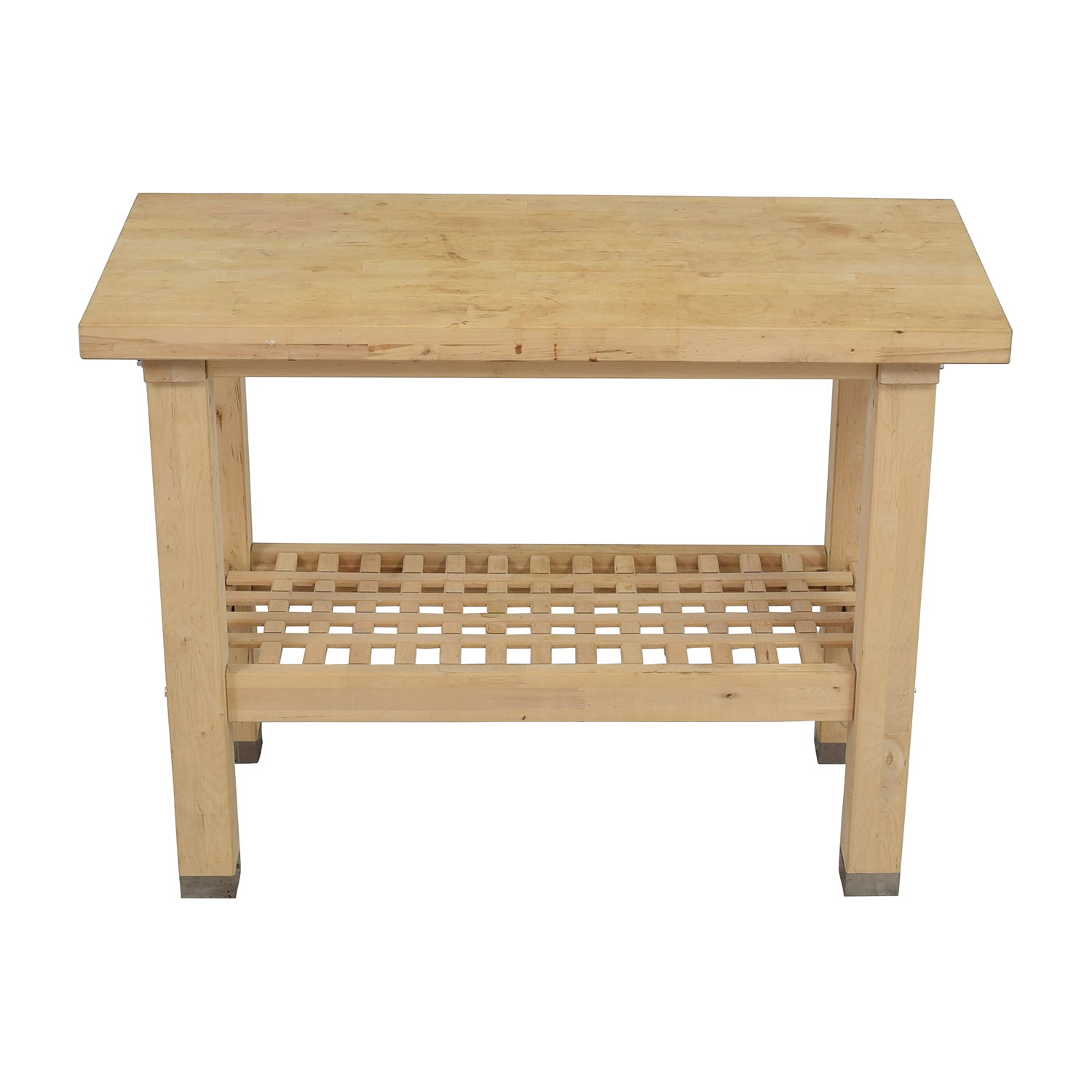 Natural Wood Side Table discount