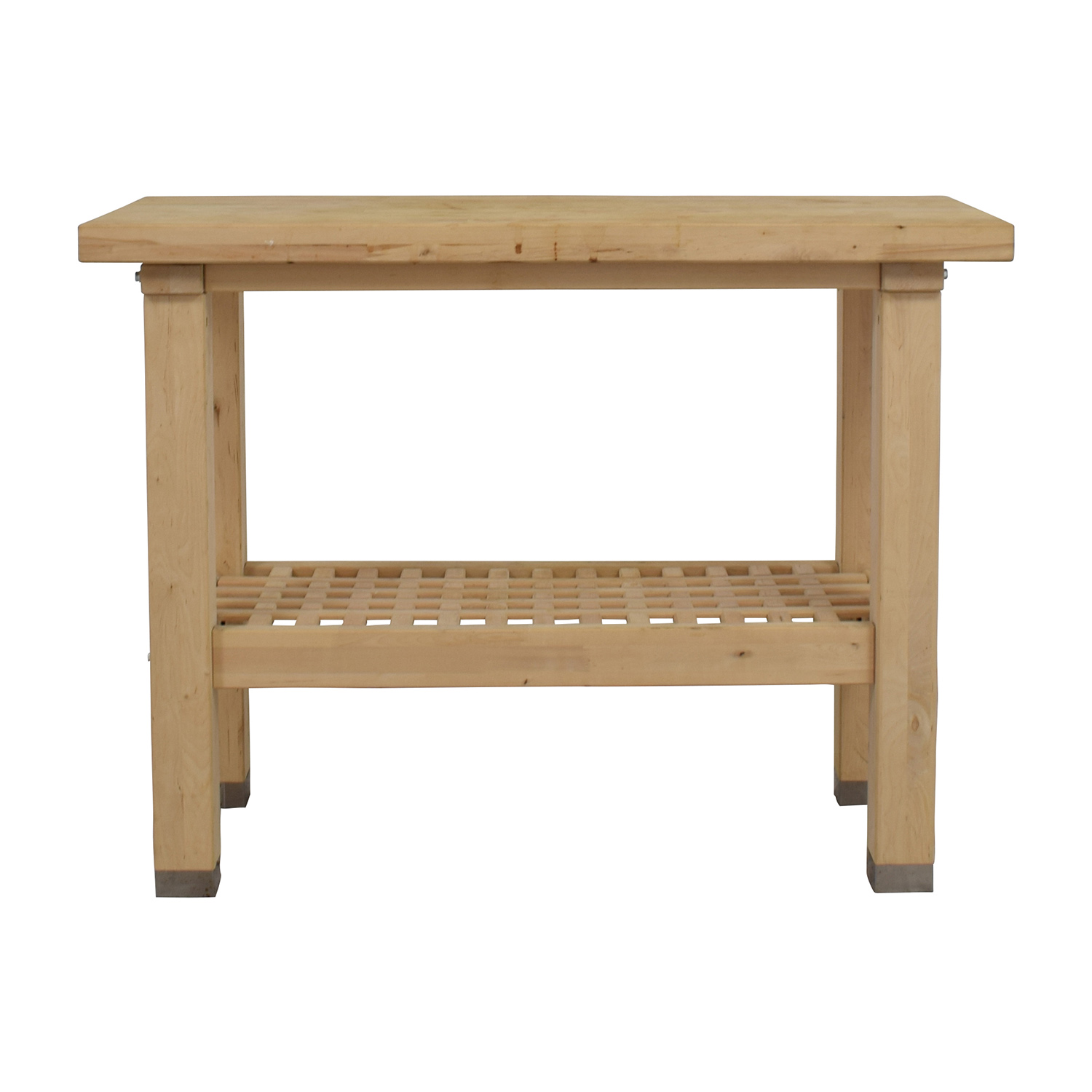shop Natural Wood Side Table Utility Tables
