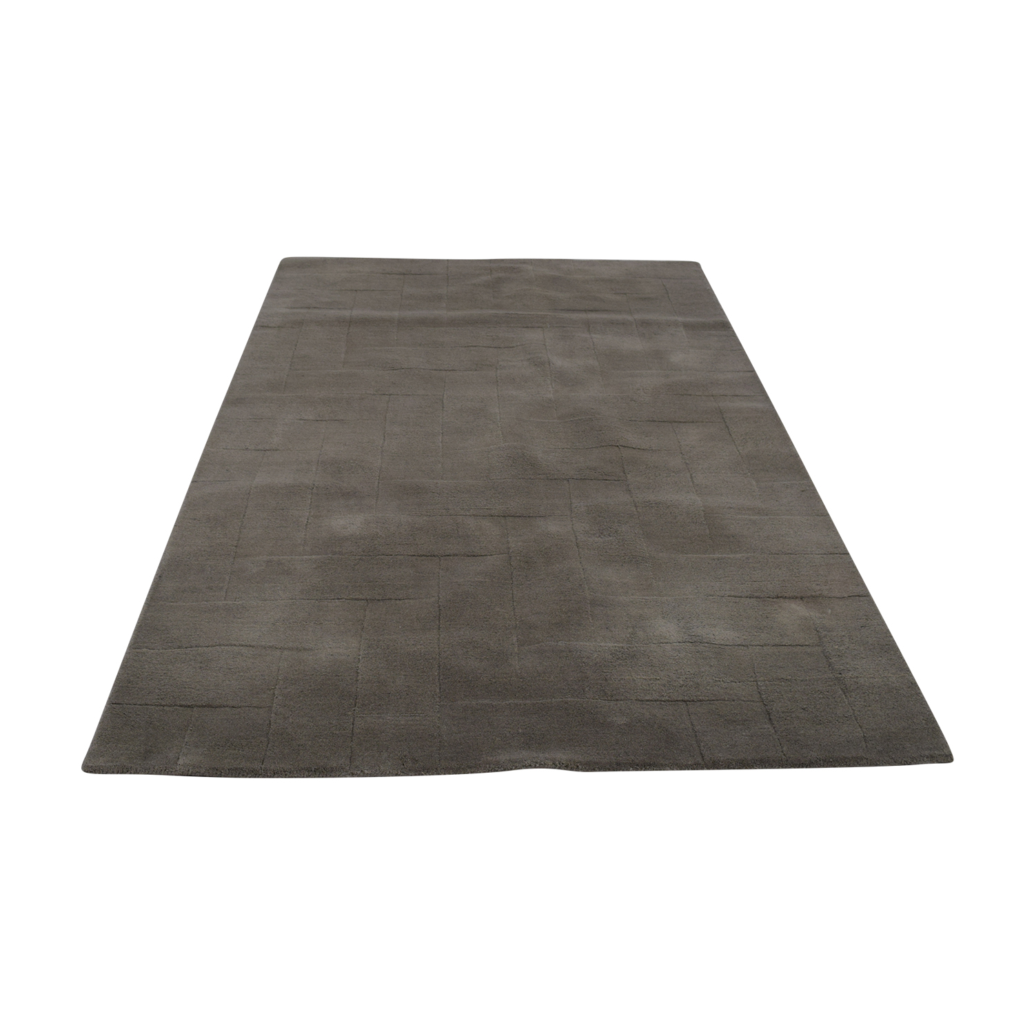 shop West Elm Solid Angled Basket Weave Grey Rug West Elm Rugs